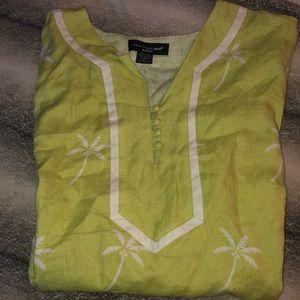 Saint Tropez West woman linen green 🌴 shirt